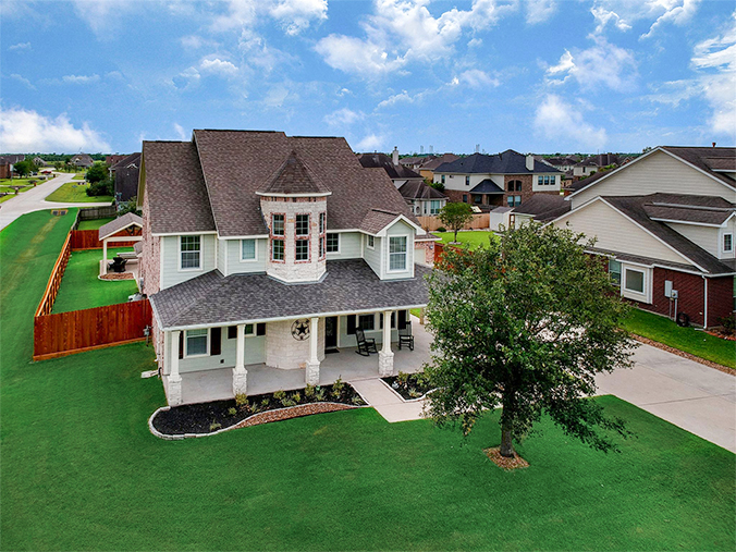 Friendswood, TX real estate drone photography